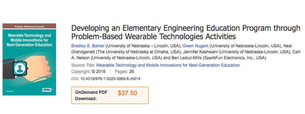 TEXTO: Educación De Ingeniería Para Primaria Con Wearables
