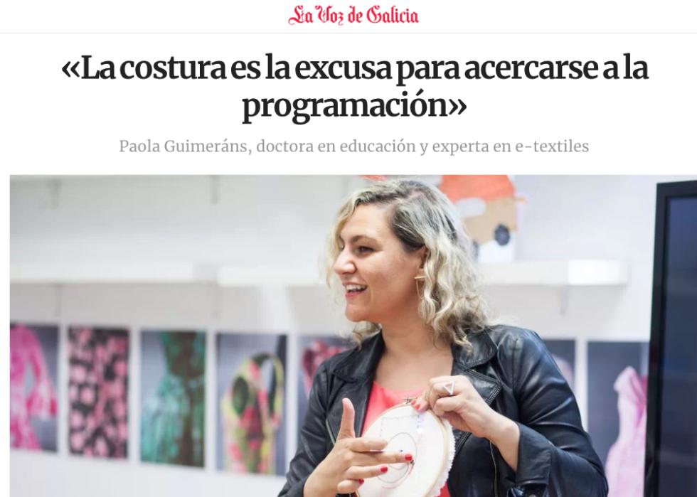 La Voz De Galicia : E-textiles Y Educación